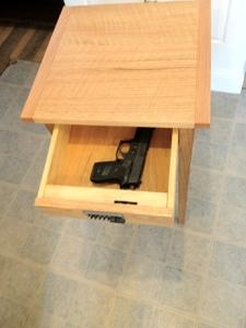 handy for gun storage